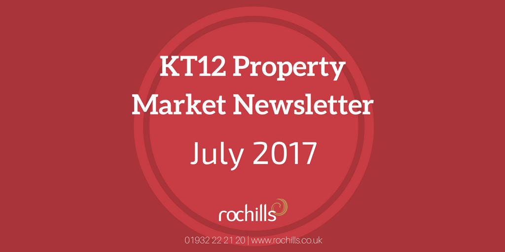 KT12 Property Market Newsletter – July 2017