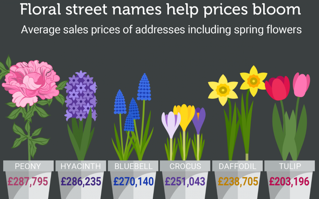 Floral street names and property prices … What's the connection?