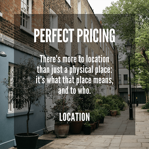 Perfect Pricing: Location